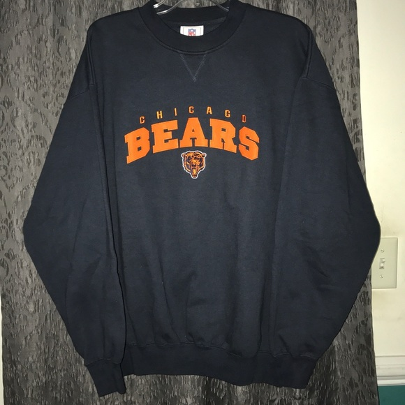 Chicago Sweatshirt Crewneck Bears Embroidered